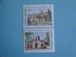 1988 Argentine  Yv 1621/2 ** MNH  - Michel 1916/7  Scott 1622/3  SG 2108/9 églises   Religieux - Neufs