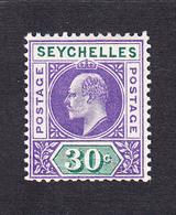Seychelles 1903 30c   SG52   MH - Seychelles (...-1976)