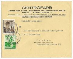 Enveloppe Envoyée Au 1 SS Totenkopf Kaval Rgt  - Cracovie 1941 - Governo Generale