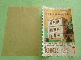 TC26 / ANTITUBERCULEUX / TUBERCULOSE Grande Vignette 1000 Frs  1952 Neuf ** Avec Sa Pochette - Erinnofilia