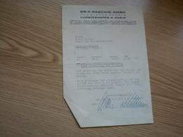 Dr F Raschig GMBH Chemische Fabrik Ludwigshafen A Rhein 1941 - Non Classés