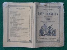 Almanach Des Bons Conseils Pour L'An De Grâce 1893 - Calendrier Des Foires De La Région Midi Pyrénées - Calendars
