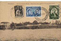 Inhambane Rua Governador Maciel. Correios Telegraphos Radio. . 3 Stamps Brasil . Argentina Primer Dia . Not Used - Mozambique