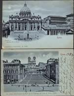Roma - Lot 2 Postcards Stengel & Co ( Précurseur... Maan Lune Moon) - Sin Clasificación