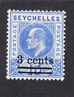 Seychelles 1903 3c On 15c  SG57   MH - Seychellen (...-1976)