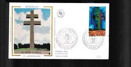 """1941  F.D.C Colombey Les Deux Eglises 18 06 & Paris 1977 5e Anniversaire Du Mémorial Du """"Général De Gaulle"""" 1778 - 1970-1979"""