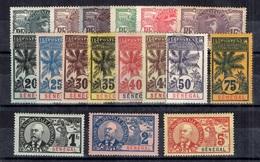 Sénégal Maury N° 30/47 Complet. B/TB. A Saisir! - Unused Stamps