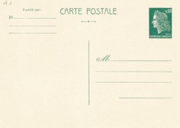 ENTIER - Cheffer 0.30 F. 2 Modèles Sur Carton Neuf TB - 2 Scans - Standard Postcards & Stamped On Demand (before 1995)