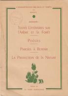 RECUEIL DE TEXTES LITTERAIRES SUR L'ARBRE ET LA FORET - POESIES - PAROLES - EAUX ET FORETS DU MAROC - Culture