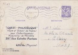 ENTIER - Iris 1 F. 20 TB - Repiquage Ouest-Philatélique - Entiers Postaux