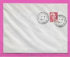 Lettre Marianne De Gandon - Tarif Rare ( Durée 1 Journée ) Du 1/1/1947 - France