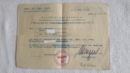 Vorläufiger Ausweis Front - OT - Batl. 253 / 20   3.2. 1945 Meister Soldat - 1939-45