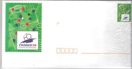 6 Enveloppes Prêtes à Poster,  Illustrées Coupe Du Monde France 98 - Entiers Postaux