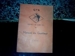 Aviation Militaire Vieux Papier Manuel Du Guetteur Service De Guet GTA Militaria 21 Pages Année ? - Documents