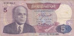 Tunisie - Billet De 5 Dinars - Habib Bourghiba - 3 Novembre 1983 - P79 - Tunesien