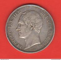 5 Franchi 1865 Francs Belgio Belgium Roi Leopold Roi Des Belges - 11. 5 Francs
