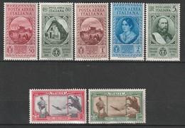 ITALIE - P.A N°32/38 * (1932) Garibaldi - Correo Aéreo