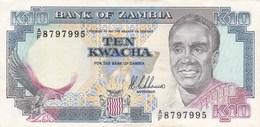 Zambie - Billet De 10 Kwacha - Kenneth Kaunda - Non Daté (1989-91) - P31a - Neuf - Sambia