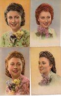 Lot 7 CPA Fantaisie - Femme - Portrait  - Collection Chromatique N° 7 - Femmes
