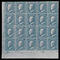 A.S.I. - Sicilia: Effige Di Ferdinando II  - 2 Gr. Azzurro / Blocco Di 20 Valori - 1859 - Sicile