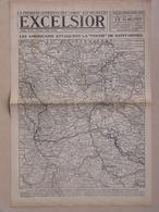 Lot 3 Journaux EXCELSIOR Septembre 1918 Les Américains Attaquent La Poche De SAINT MIHIEL Carte Du Front WWI - 1914-18