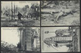 BRUXELLES * EXPOSITION 1910 * L INCENDIE * 12 CARTES POSTALES * EXPO BRUSSELS 1910 * 12 DIFFERENT POSTCARDS - 5 - 99 Postkaarten