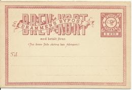 ENTIER POSTAL Bypost DRAMMEN NORVEGE NORGE - Local Post Stamps
