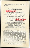Oorlog Guerre Gesneuvelde Soldaten Van Wetteren Mei 1940 Baeyens Smekens Janssens Smekens Kessel Lier - Andachtsbilder