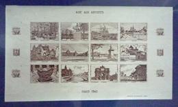 FRANCE 1942 Feuille Complète Neuf** - MNH - Vignette Aide Aux Artistes Non Dentelé - Blocchi & Foglietti