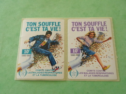 TC26 / ANTITUBERCULEUX / TUBERCULOSE Petite Vignette 10 Frs En Paire Attenant ; 1990/91  Neuf ** - Erinnofilia