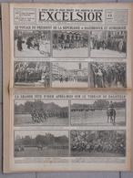 Journal EXCELSIOR 12 Août 1919 Le Président à HAZEBROUCK Et DUNKERQUE CLEMENCEAU à LENS CARVIN BETHUNE OIGNIES - 1914-18