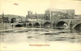 026 491- CPA - Belgique - Huy - Pont Collégiale Et Fort - Huy