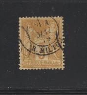 86 De 1878 - Oblitéré - Type Sage .type 2 .N Sous U - 3c. Bistre-jaune -Allégorique Paix Et Commerce - 2 Scannes - 1876-1898 Sage (Type II)