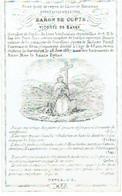 GORSLIEUX - Constantin BARON De COPIS - Vicomte De BAVAY - Bourgmestre - époux Fanny Comtesse De MEAN - Décédé 1857 - Images Religieuses