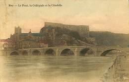 026 493- CPA - Belgique - Huy - Le Pont, La Collégiale Et La Citadelle - Huy