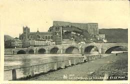 026 495- CPA - Belgique - Huy - La Citadelle, La Collégiale Et Le Pont - Huy