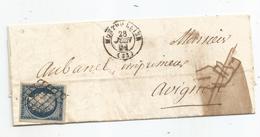 - HERAULT - MONTPELLIER - Grille Noire S/TPND Cérès N°4 Bleu Fonçé + Càd T.15 -1851 - 1849-1850 Ceres