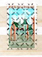FRANCE N° 1759 1F OCRE ORANGE VERT ET BLEU CLAIR LE CLOS LUCE A AMBOISE PARA OBLITERE AVEC GOMME - Curiosities: 1970-79 Mint/hinged