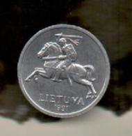 OFERTA - LITUANIA - 1 Centai 1991  KM85 - Lithuania