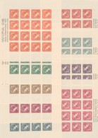 """Österrreich 1933: ND Kleinbögen """"WIPA 1933- Merkurkopf """" M.A. Kpl.Satz 9 Stk. Unbenutzt - Nuevos"""