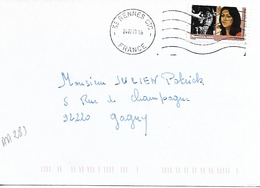 FRANCE 2009 / YT AA  283 / Femmes Du Monde : Nandita, INDE.  / Sur Lettre Voyagée 2009 Obl. RENNES CTC - 1961-....