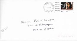 FRANCE 2009 / YT AA  283 / Femmes Du Monde : Nandita, INDE.  / Sur Lettre Voyagée 2009 - 1961-....