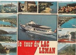 74. HAUTE SAVOIE (ENVOYE DE). 2 CARTES MULTIVUES DES SITES TOURISTIQUES  AUTOUR DU LAC LEMAN .ANNEES 1975 ET 78 + TEXTES - Non Classificati