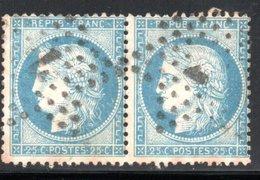 PAIRE YT 60 A OBLITERATION ETOILE DE PARIS PETIT 7 GRAS - 1849-1876: Classic Period