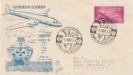 FDC - ESPAGNE - 1955 - AVIATION - FDC