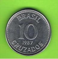 BRASIL - 10 Cruzados 1987  KM607 - Brésil