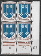 France 1967  - Coin Daté 22/6/67 Armoiries De Mont-de-Marsan  Y&T N° 1469 ** Neuf Luxe (gomme D'origine Intacte) TB. - Coins Datés
