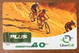 LIBAN LIBANCELL VTT RECHARGE GSM 40U EXP 19/05/2005 PHONECARD PAS TELECARTE CARTE TÉLÉPHONIQUE PRÉPAYÉE - Liban