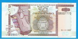 BURUNDI - 50 Francs 2007 SC  P-36 - Burundi
