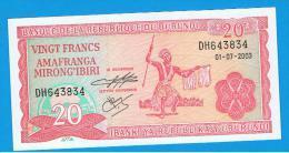 BURUNDI - 20 Francs 2003 SC  P-27 - Burundi